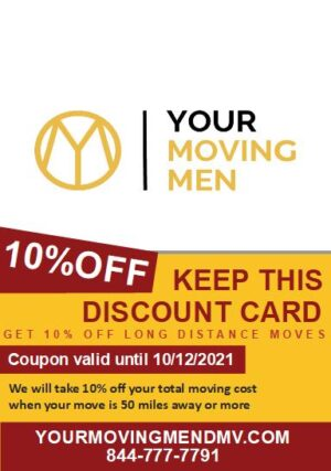 10% Off Long Distance Moves